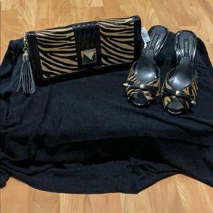 Animal print shoes Euc and matching bag BNWT
